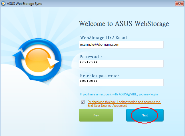 How to Register from WebStorage Sync for Windows – ASUS